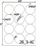 Round Label Sheets Inkjet Round Labels Laser Round Labels