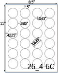 1 2/3 Diameter Round Clear Gloss Polyester Inkjet Label Sheet<BR><B>USUALLY SHIPS SAME DAY</B>
