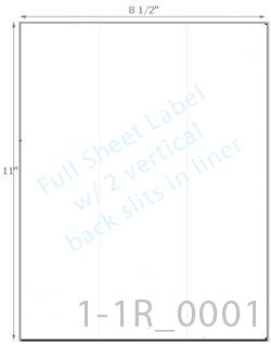 8 1/2 x 11 Rectangle w/ 2 Slits CRACK BACK<BR>Light Brown Kraft Printed Label Sheet<BR><B>USUALLY SHIPS IN 2-3 BUSINESS DAYS</B>