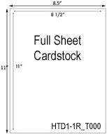 8 1/2 x 11 Full Sheet Cardstock<BR>Brown Kraft Custom Printed Cardstock Hang Tag Sheet<BR><B>USUALLY SHIPS IN 2-3 BUSINESS DAYS</B>