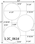 4 1/2 Diameter Round Circle<BR>Brown Kraft Printed Label Sheet<BR><B>USUALLY SHIPS IN 2-3 BUSINESS DAYS</B>