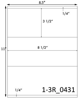 8 1/2 x 3 1/2 Rectangle <BR>Brown Kraft Printed Label Sheet<BR><B>USUALLY SHIPS IN 2-3 BUSINESS DAYS</B>