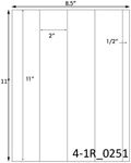 2 x 11 Rectangle <BR>Brown Kraft Printed Label Sheet<BR><B>USUALLY SHIPS IN 2-3 BUSINESS DAYS</B>