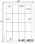 1 3/4 x 2 1/2 Rectangle <BR>Brown Kraft Printed Label Sheet<BR><B>USUALLY SHIPS IN 2-3 BUSINESS DAYS</B>