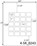 1 1/4 x 1 Rectangle <BR>Light Brown Kraft Printed Label Sheet<BR><B>USUALLY SHIPS IN 2-3 BUSINESS DAYS</B>