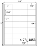 2 x 1 1/2 Rectangle <BR>Light Brown Kraft Printed Label Sheet<BR><B>USUALLY SHIPS IN 2-3 BUSINESS DAYS</B>