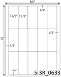 1 1/2 x 3 1/2 Rectangle<BR>Brown Kraft Printed Label Sheet<BR><B>USUALLY SHIPS IN 2-3 BUSINESS DAYS</B>