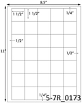 1 1/2 x 1 1/2 Square<BR>Natural Ivory Printed Label Sheet<BR><B>USUALLY SHIPS IN 2-3 BUSINESS DAYS</B>