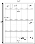1 1/2 x 1 1/2 Square w/perfs (Price Label)<BR>Brown Kraft Printed Label Sheet<BR><B>USUALLY SHIPS IN 2-3 BUSINESS DAYS</B>