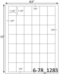 1 1/4 x 1 1/2 Rectangle <BR>Natural Ivory Printed Label Sheet<BR><B>USUALLY SHIPS IN 2-3 BUSINESS DAYS</B>