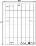 1 1/16 x 1 3/4 Rectangle<BR>Brown Kraft Printed Label Sheet<BR><B>USUALLY SHIPS IN 2-3 BUSINESS DAYS</B>