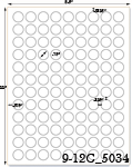3/4 Diameter Round Pastel Label Sheet  <BR><B>USUALLY SHIPS SAME DAY</B>
