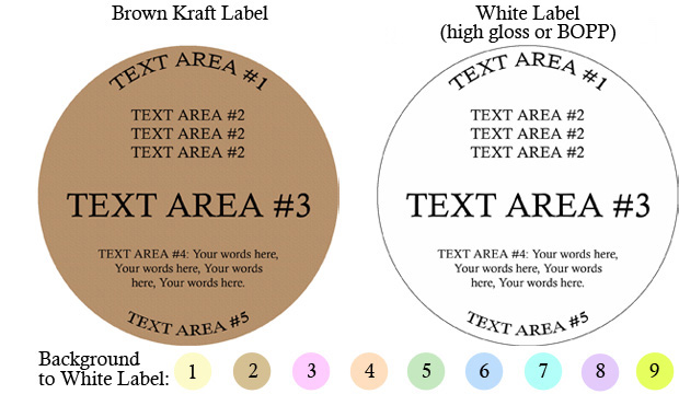Round Customized Label<BR>Design Style #22<BR><B>USUALLY SHIPS WITHIN 24-48 HRS</b>
