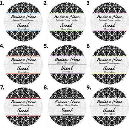 Quick candle label round design 615usually ships within