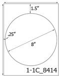 8 Diameter Round White Label Sheet  <BR><B>USUALLY SHIPS SAME DAY</B>