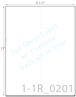 8 1/2 x 11 Rectangle Natural Ivory Label Sheet w/ 1 vert back slit<BR><B>USUALLY SHIPS SAME DAY</B>