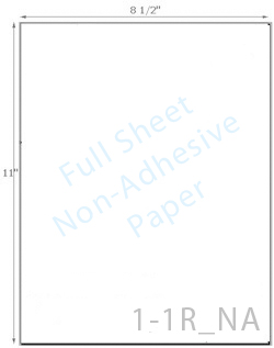 8 1/2 x 11 Non-adhesive Brown Kraft Paper<BR><B>USUALLY SHIPS SAME DAY</B>
