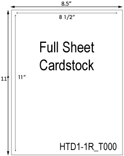 8 1/2 x 11 Rectangle Full Sheet Cardstock / Hang Tag Sheet<BR><B>USUALLY SHIPS SAME DAY</B>