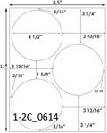 4 1/2 Diameter Round White Label Sheet<BR><B>USUALLY SHIPS SAME DAY</B>
