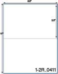8 1/2 x 5 1/2 Rectangle  White Label Sheet<BR><B>USUALLY SHIPS SAME DAY</B>
