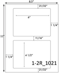 6 x 4 1/2 Rectangle White Label Sheet<BR><B>USUALLY SHIPS SAME DAY</B>