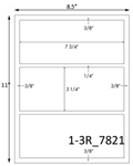 7 3/4 x 3 1/4 Rectangle White Label Sheet<BR><B>USUALLY SHIPS SAME DAY</B>