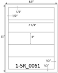 7 1/2 x 2 Rectangle  White Label Sheet<BR><B>USUALLY SHIPS SAME DAY</B>