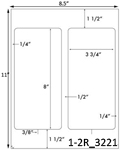 3 3/4 x 8 Rectangle White Label Sheet<BR><B>USUALLY SHIPS SAME DAY</B>