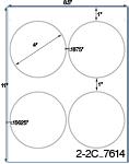 4 Diameter Round White Label Sheet  <BR><B>USUALLY SHIPS SAME DAY</B>