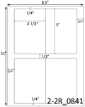 3 1/2 x 5 Rectangle White Label Sheet<BR><B>USUALLY SHIPS SAME DAY</B>