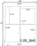 3 3/4 x 4 1/2 Rectangle White Label Sheet<BR><B>USUALLY SHIPS SAME DAY</B>