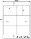 4 x 3 Rectangle White Label Sheet<BR><B>USUALLY SHIPS SAME DAY</B>