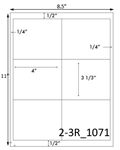 4 x 3 1/3 Rectangle White Label Sheet<BR><B>USUALLY SHIPS SAME DAY</B>
