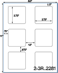 2 3/4 x 2 3/4 Square White Label Sheet<BR><B>USUALLY SHIPS SAME DAY</B>