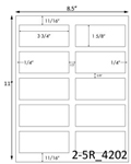 3 3/4 x 1 5/8 Rectangle White Label Sheet<BR><B>USUALLY SHIPS SAME DAY</B>