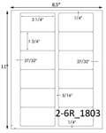 3 1/4 x 1 3/4 Rectangle  White Label Sheet<BR><B>USUALLY SHIPS SAME DAY</B>
