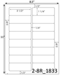 3 1/2 x 1 1/4 Rectangle White Label Sheet<BR><B>USUALLY SHIPS SAME DAY</B>