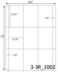 2 1/2 x 3 2/3 Rectangle White Label Sheet<BR><B>USUALLY SHIPS SAME DAY</B>