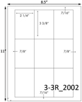 2 1/4 x 3 3/8 Rectangle  White Label Sheet<BR><B>USUALLY SHIPS SAME DAY</B>