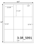 2 5/8 x 3 1/2 Rectangle White Label Sheet<BR><B>USUALLY SHIPS SAME DAY</B>