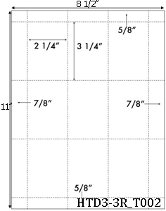 2 1/4 x 3 1/4 Rectangle Perforated Hang Tag Sheet<BR>no pre-drilled hole<BR><B>USUALLY SHIPS SAME DAY</B>