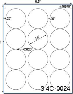 1 inch diameter circle template - 2 1 2 diameter round brown kraft label sheetusually ships
