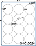 2 1/2 Diameter Pastel Label Sheet<BR><B>USUALLY SHIPS SAME DAY</B>