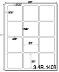 2 1/2 x 2 1/2 Square Natural Ivory Label Sheet<BR><B>USUALLY SHIPS SAME DAY</B>