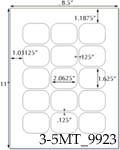 2.0625 x 1.625 Rectangle  White Label Sheet<BR><B>USUALLY SHIPS SAME DAY</B>