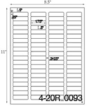 1 3/4 x 1/2 Rectangle <B>PREMIUM</B> Water-Resistant White Vinyl Inkjet Label Sheet<BR><B>USUALLY SHIPS SAME DAY</B>