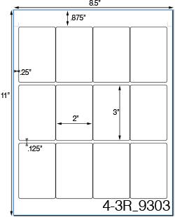 2 x 3 rectangle brown kraft label sheetusually ships same day