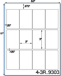 2 x 3 Rectangle Water-Resistant White Polyester Laser Label Sheet<BR><B>USUALLY SHIPS SAME DAY</B>