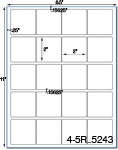 2 x 2 Square Removable White Label Sheet<BR><B>USUALLY SHIPS SAME DAY</B>