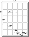 1 1/2 x 2 Rectangle White Label Sheet<BR><B>USUALLY SHIPS SAME DAY</B>